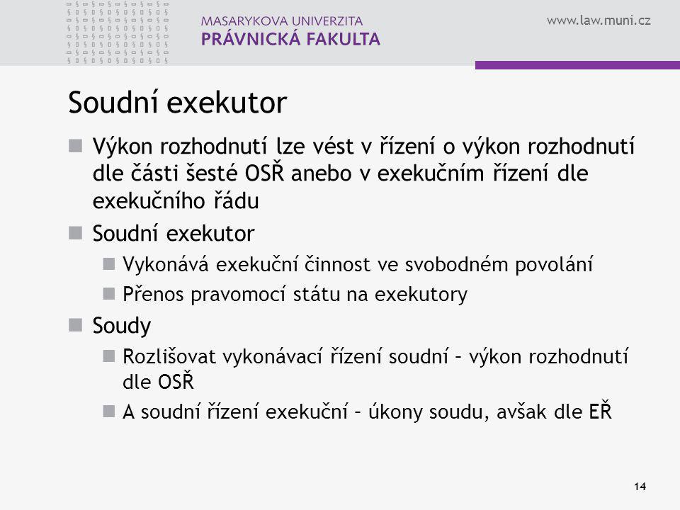 Soudní exekutor Výkon rozhodnutí lze vést v řízení o výkon rozhodnutí dle části šesté OSŘ anebo v exekučním řízení dle exekučního řádu.
