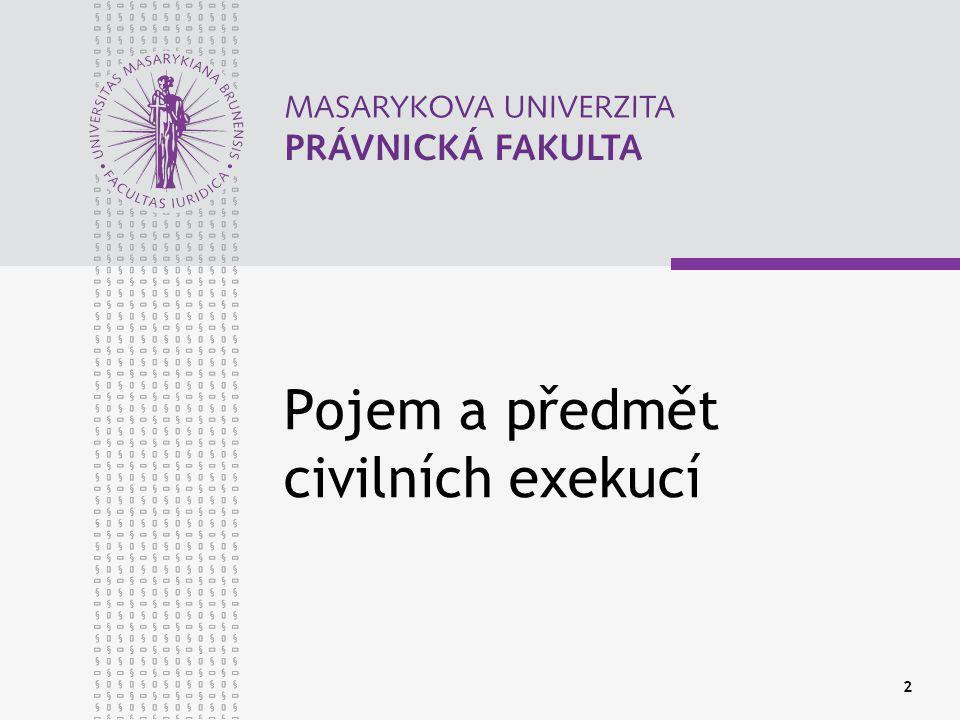 Pojem a předmět civilních exekucí