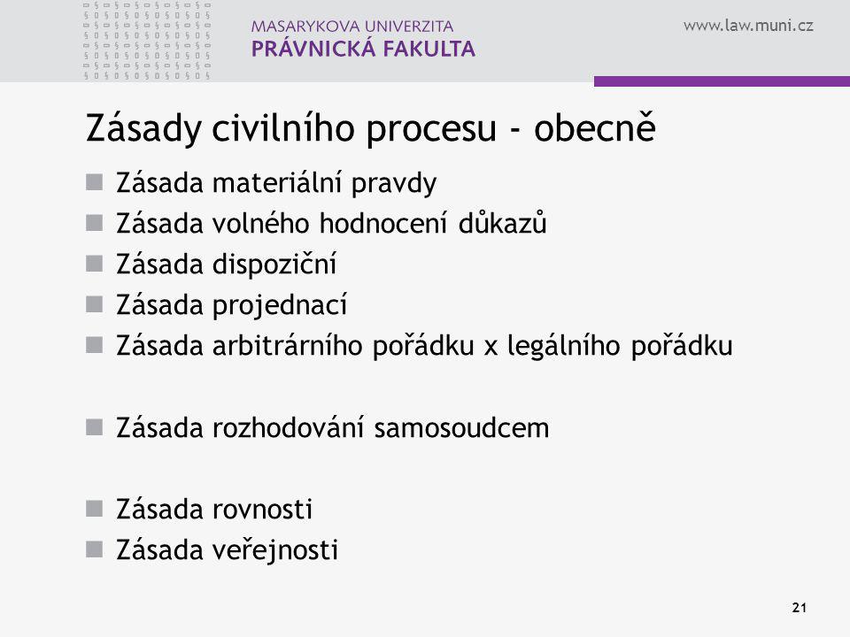 Zásady civilního procesu - obecně