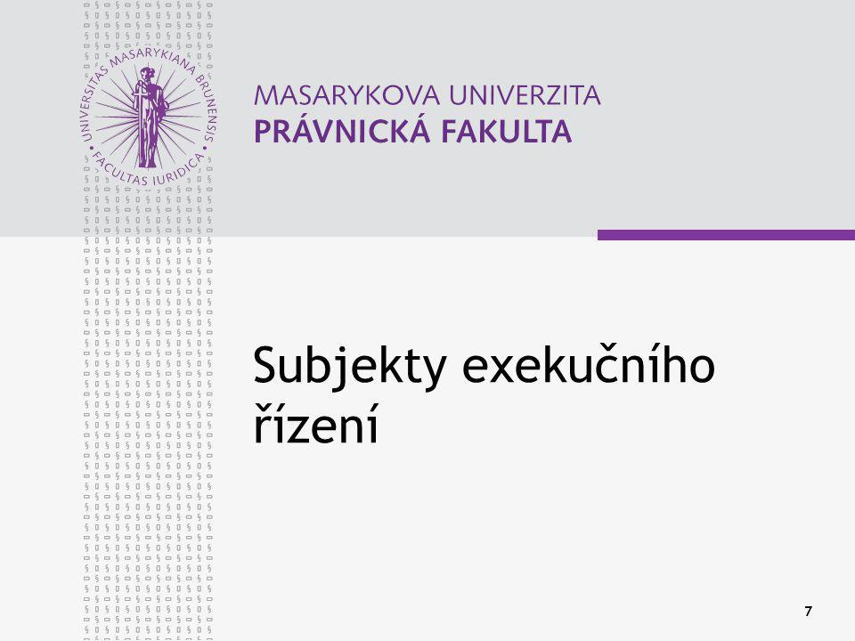 Subjekty exekučního řízení