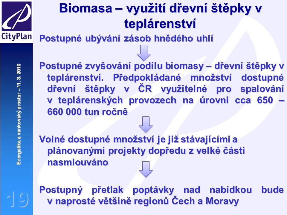 Biomasa – využití dřevní štěpky v teplárenství