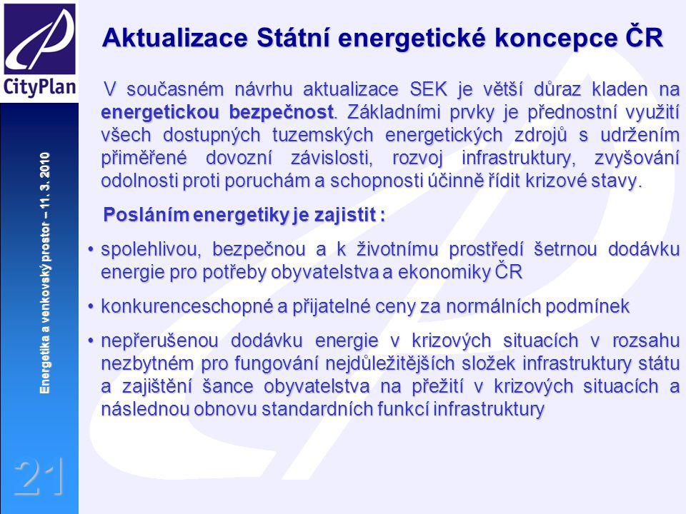 Aktualizace Státní energetické koncepce ČR