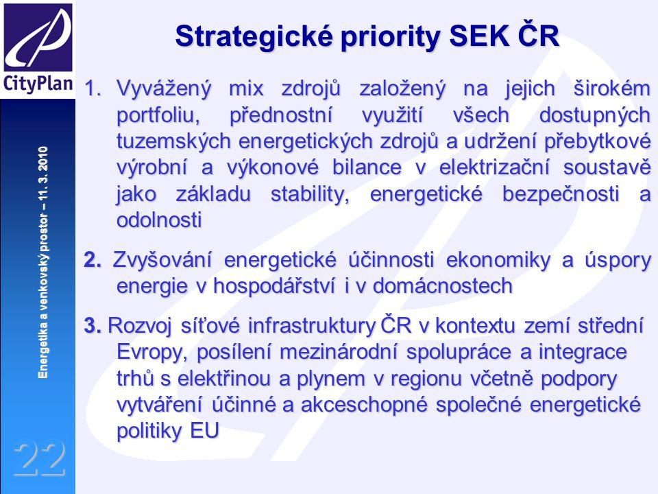 Strategické priority SEK ČR