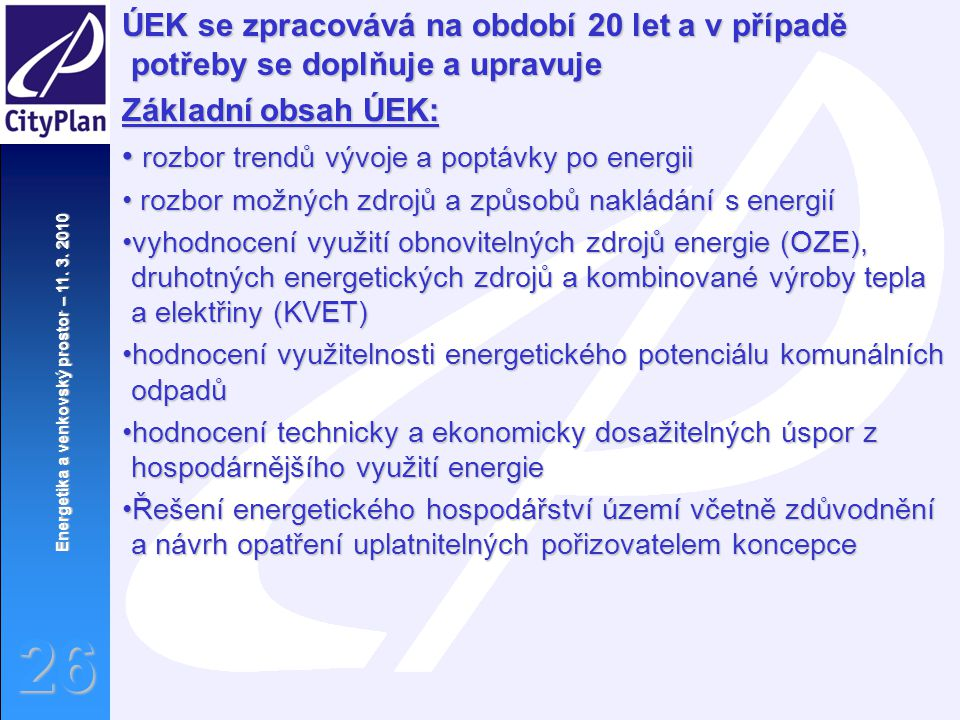 rozbor trendů vývoje a poptávky po energii