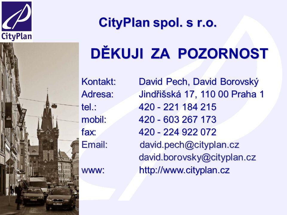 DĚKUJI ZA POZORNOST CityPlan spol. s r.o.