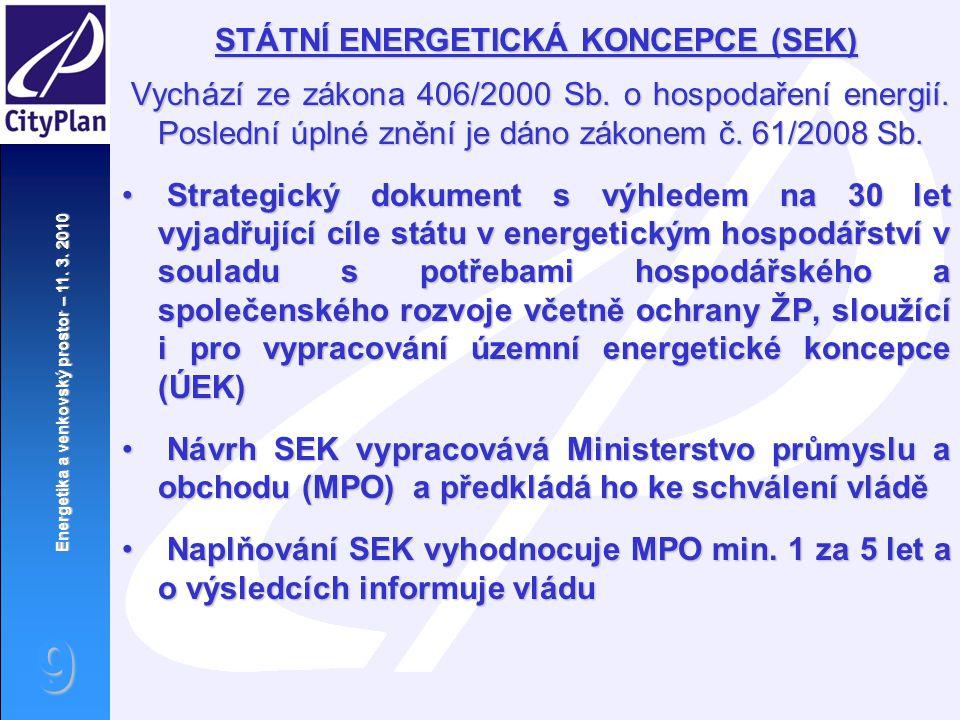 STÁTNÍ ENERGETICKÁ KONCEPCE (SEK)