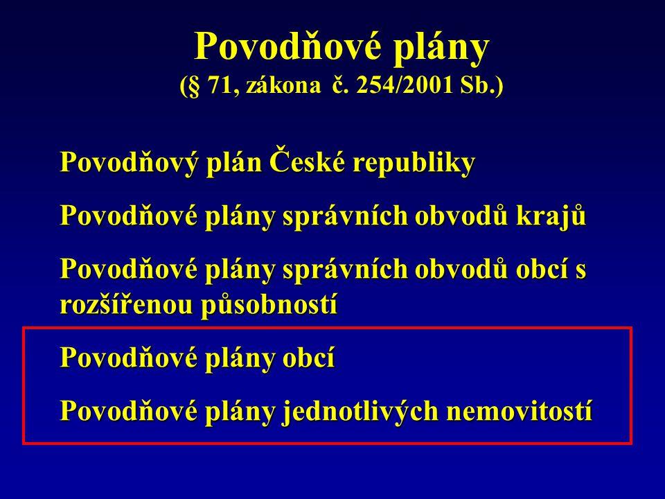 Povodňové plány Povodňový plán České republiky