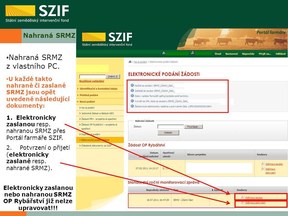 Nahraná SRMZ z vlastního PC.
