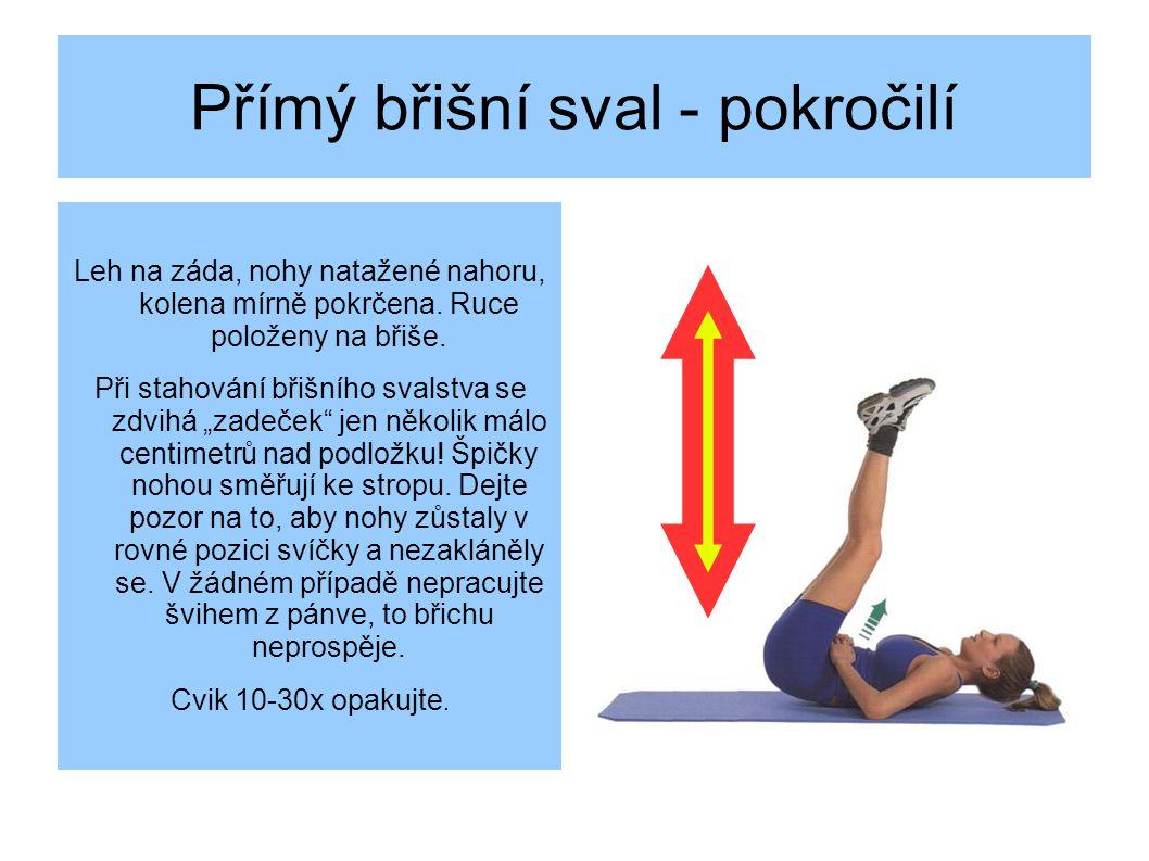 Přímý břišní sval - pokročilí