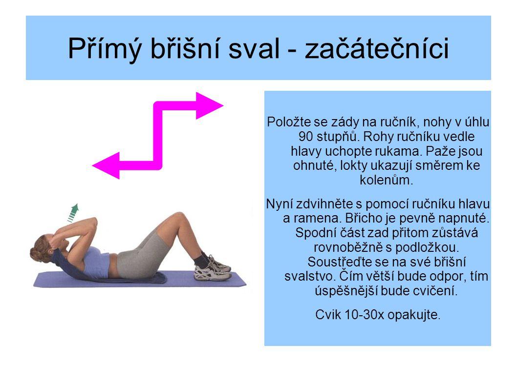 Přímý břišní sval - začátečníci