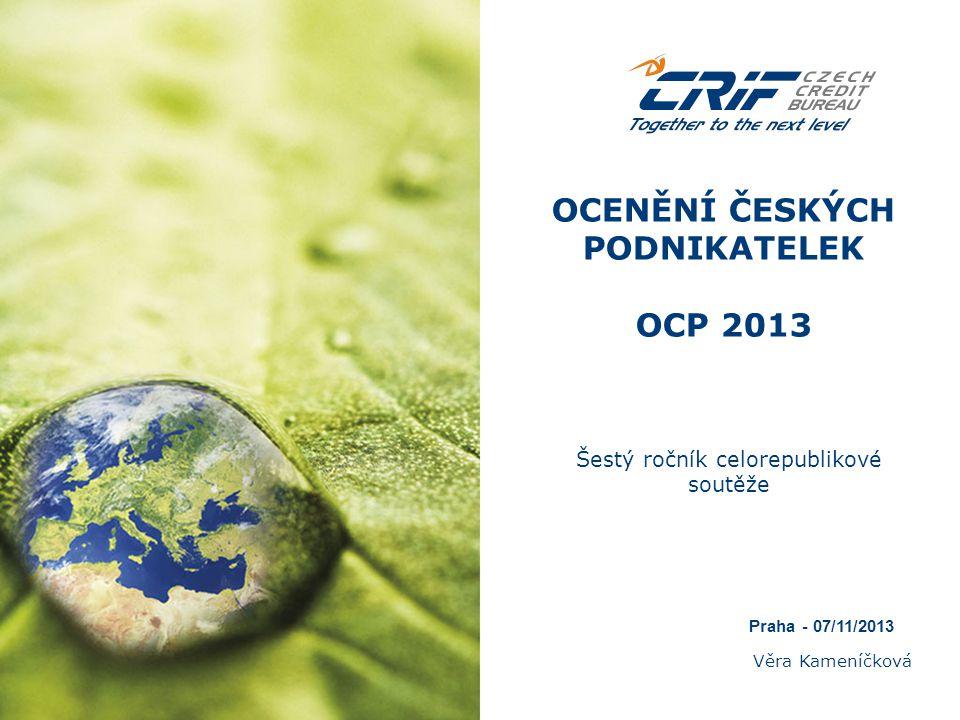 OCENĚNÍ ČESKÝCH PODNIKATELEK OCP 2013
