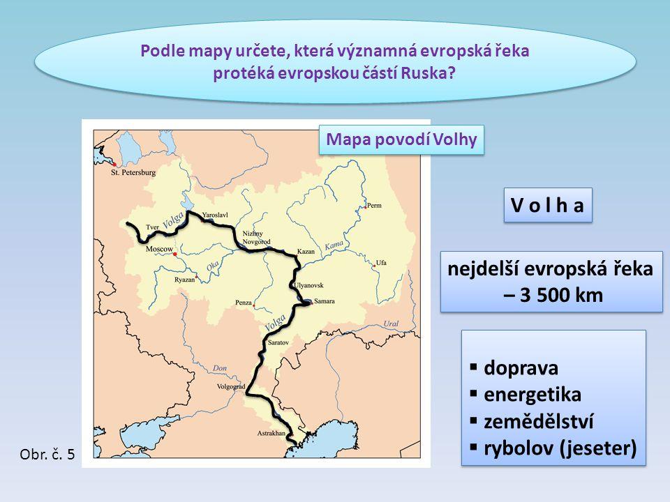nejdelší evropská řeka – 3 500 km