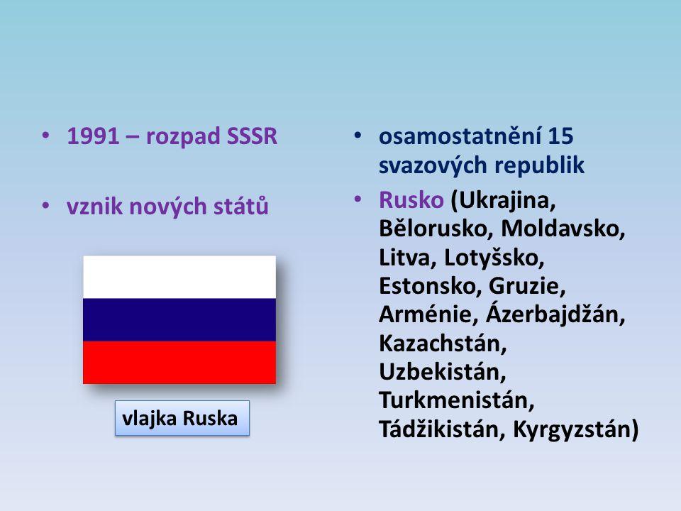 osamostatnění 15 svazových republik