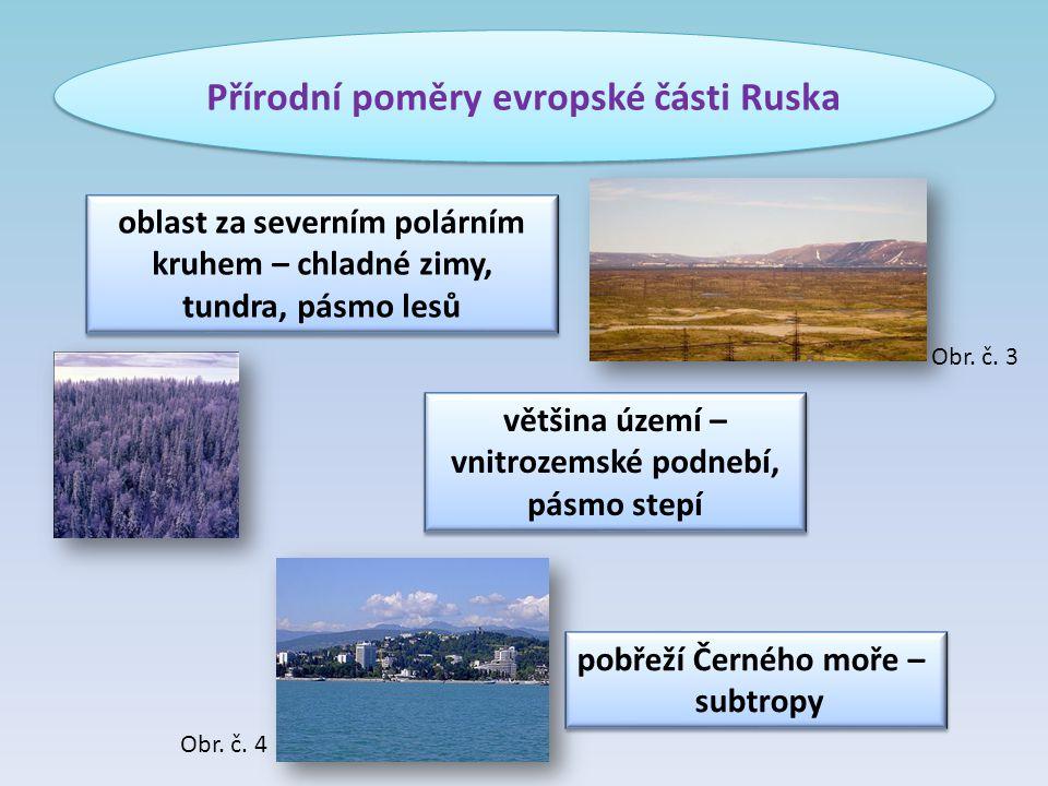 Přírodní poměry evropské části Ruska