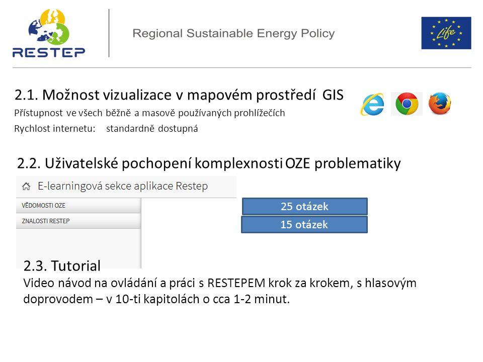 2.1. Možnost vizualizace v mapovém prostředí GIS