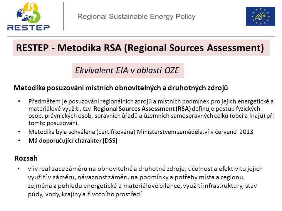 Metodika RSA RESTEP - Metodika RSA (Regional Sources Assessment)