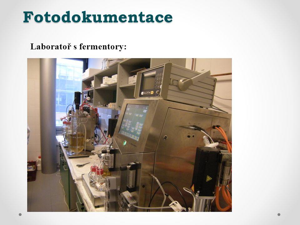 Fotodokumentace Laboratoř s fermentory: