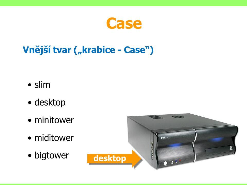 """Case Vnější tvar (""""krabice - Case ) slim desktop minitower miditower"""