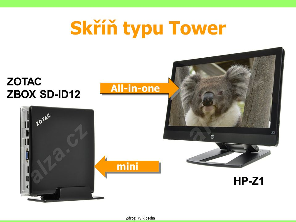 Skříň typu Tower ZOTAC ZBOX SD-ID12 HP-Z1 All-in-one mini