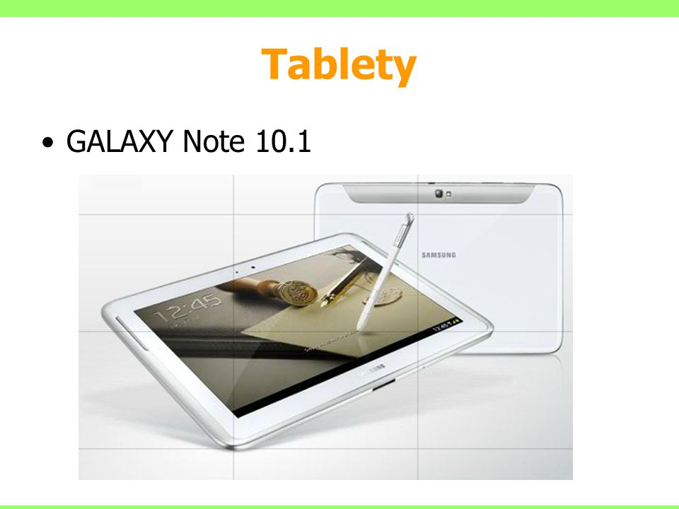 Tablety GALAXY Note 10.1