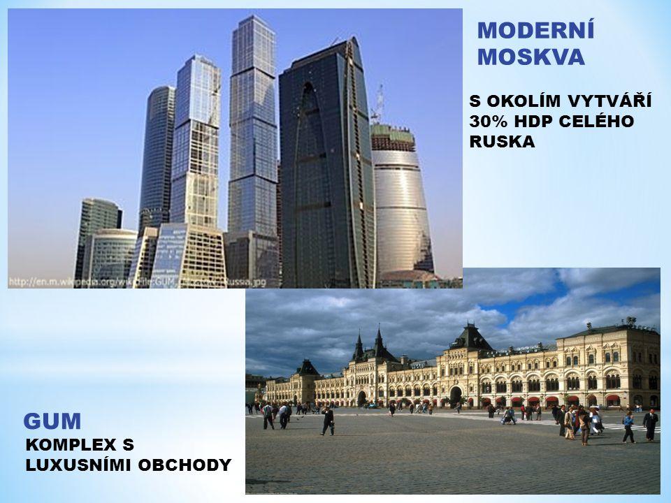 MODERNÍ MOSKVA GUM S OKOLÍM VYTVÁŘÍ 30% HDP CELÉHO RUSKA KOMPLEX S