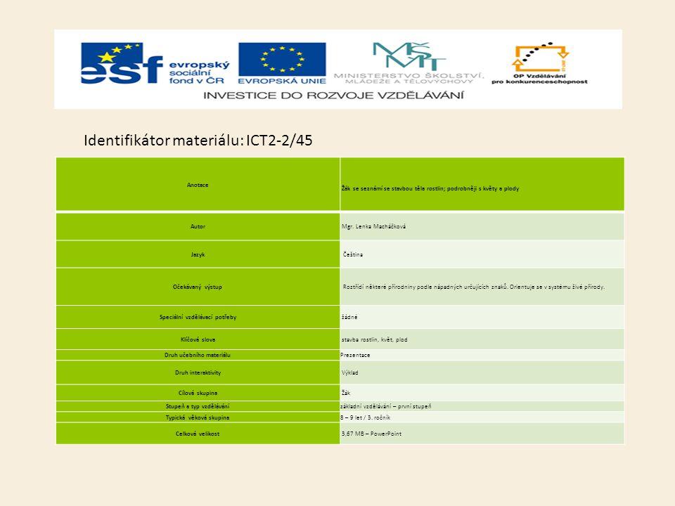 Identifikátor materiálu: ICT2-2/45