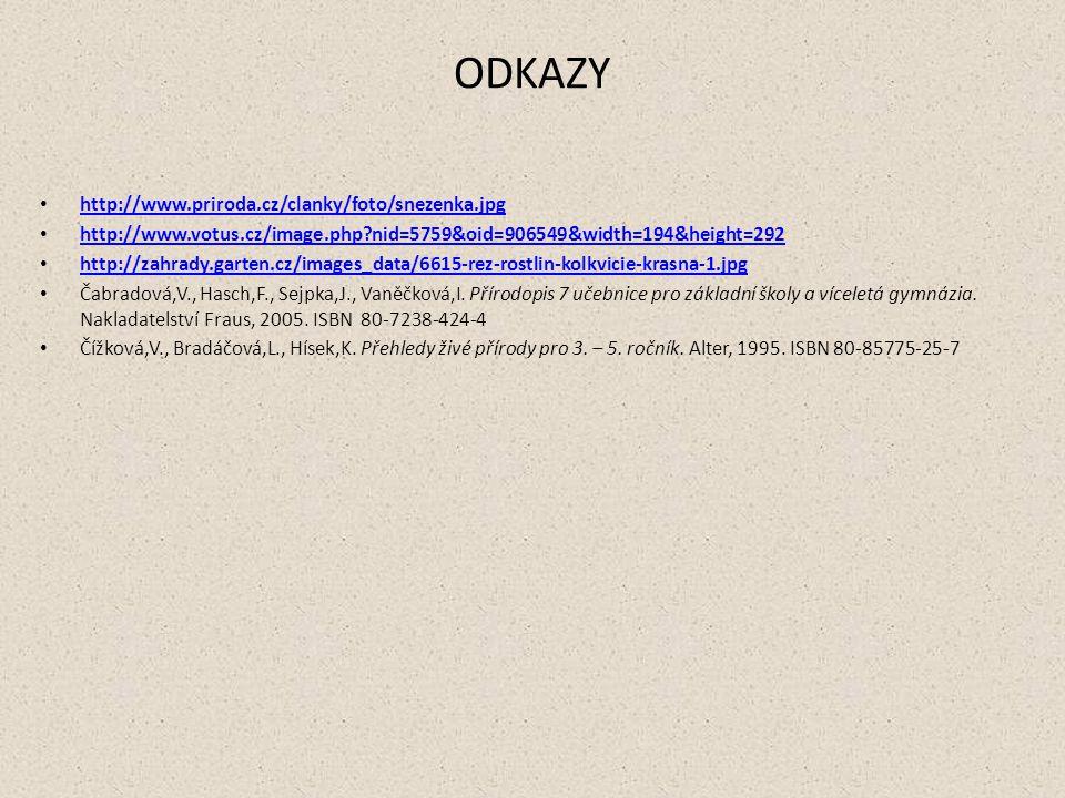 ODKAZY http://www.priroda.cz/clanky/foto/snezenka.jpg