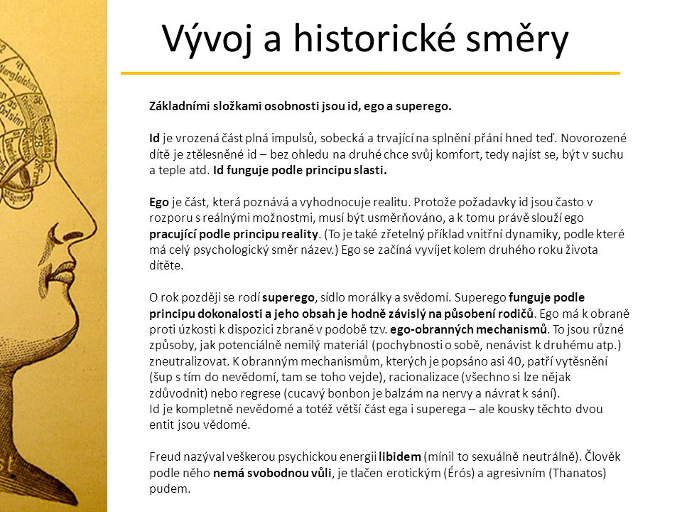Vývoj a historické směry