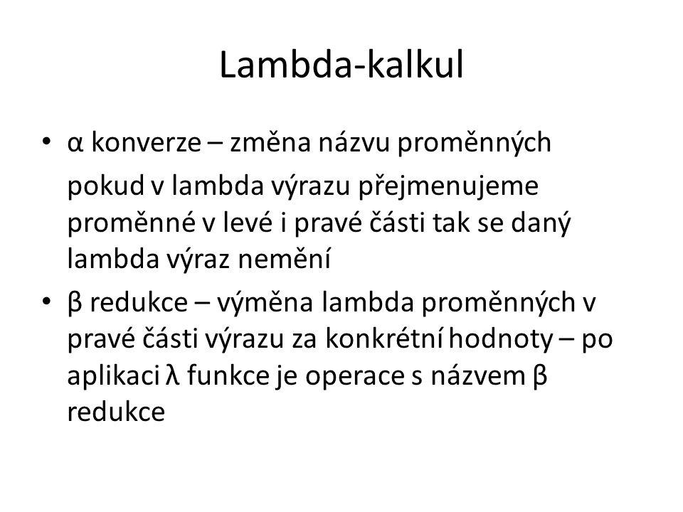 Lambda-kalkul α konverze – změna názvu proměnných