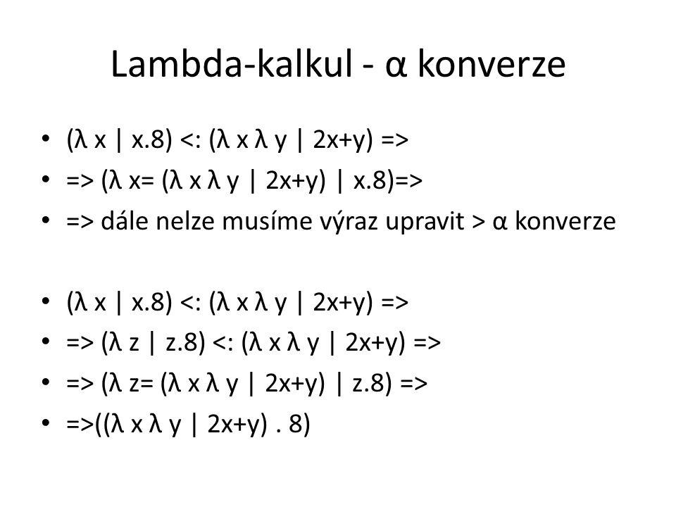 Lambda-kalkul - α konverze