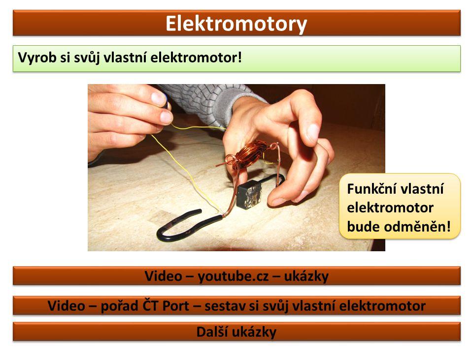 Elektromotory Vyrob si svůj vlastní elektromotor!