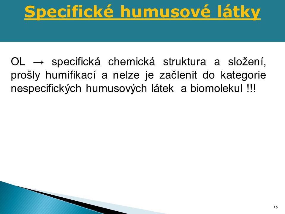 Specifické humusové látky
