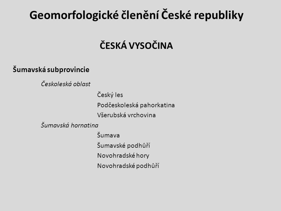 Geomorfologické členění České republiky