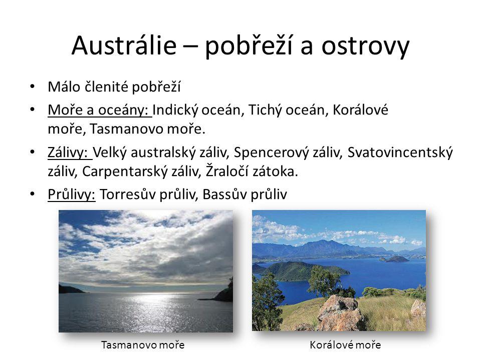 Austrálie – pobřeží a ostrovy