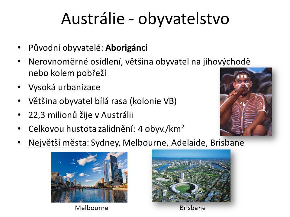 Austrálie - obyvatelstvo