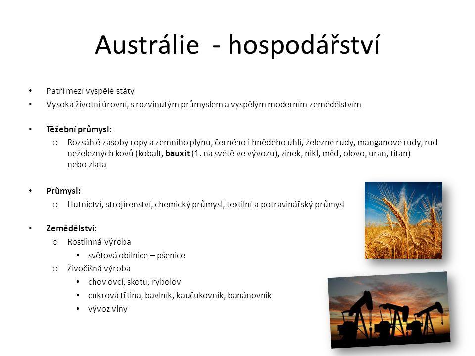 Austrálie - hospodářství