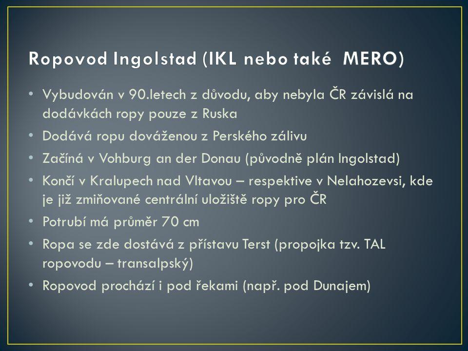 Ropovod Ingolstad (IKL nebo také MERO)