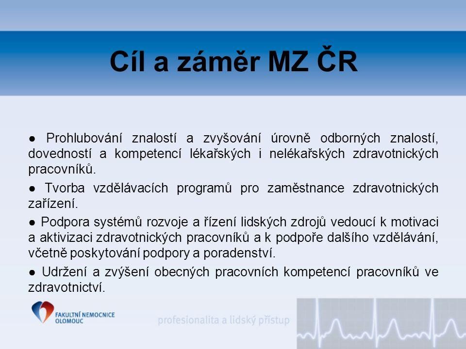 Cíl a záměr MZ ČR