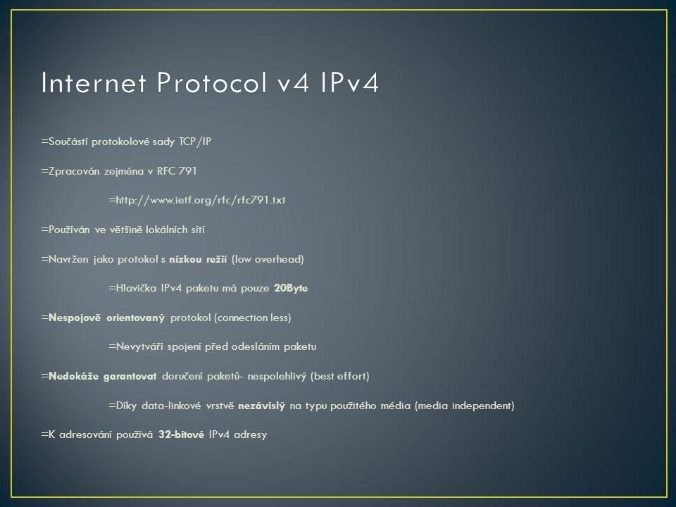 Internet Protocol v4 IPv4
