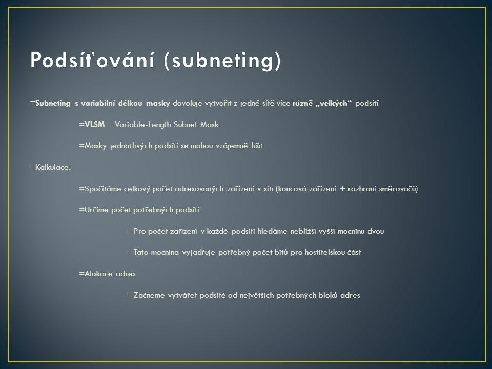 Podsíťování (subneting)