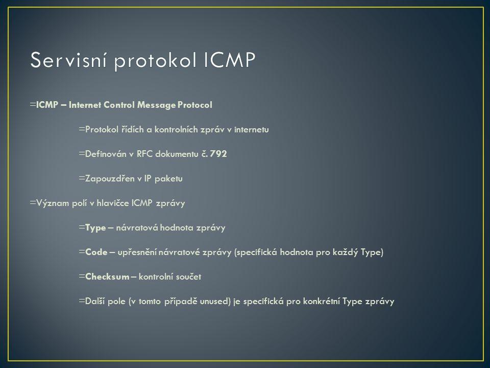 Servisní protokol ICMP