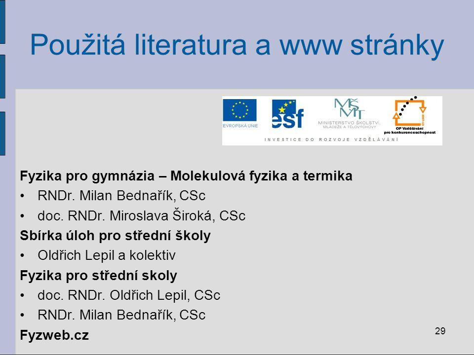 Použitá literatura a www stránky