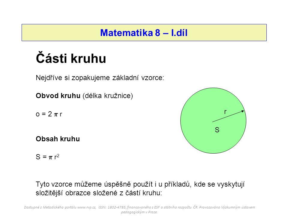Části kruhu Matematika 8 – I.díl