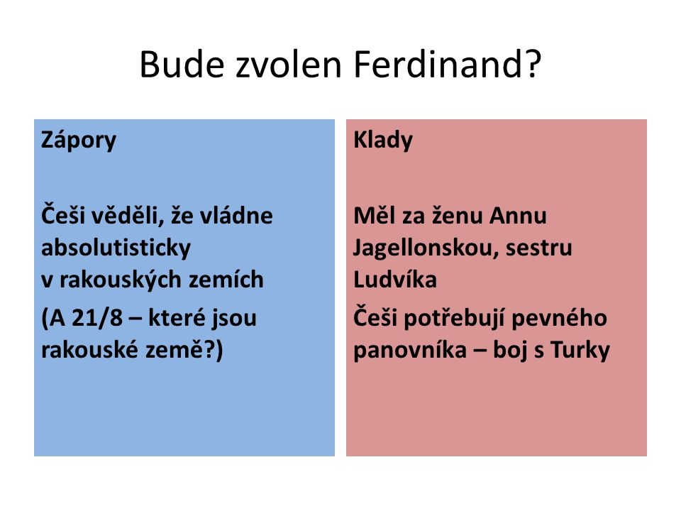 Bude zvolen Ferdinand Zápory