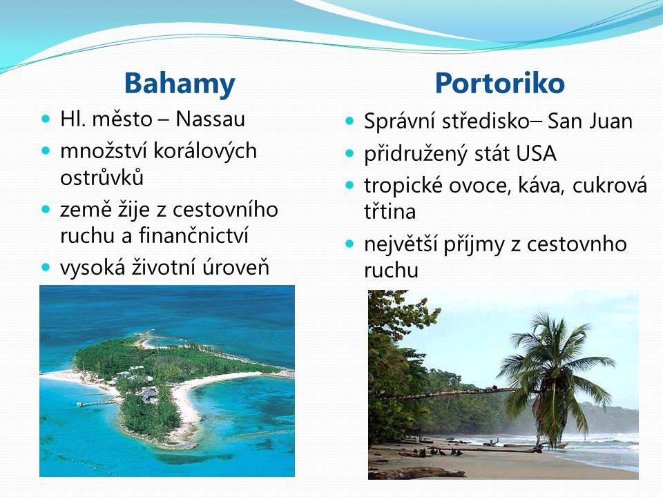 Bahamy Portoriko Hl. město – Nassau množství korálových ostrůvků