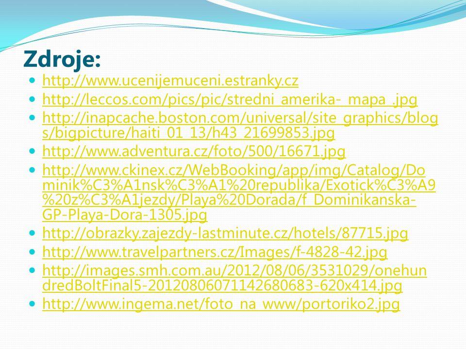 Zdroje: http://www.ucenijemuceni.estranky.cz