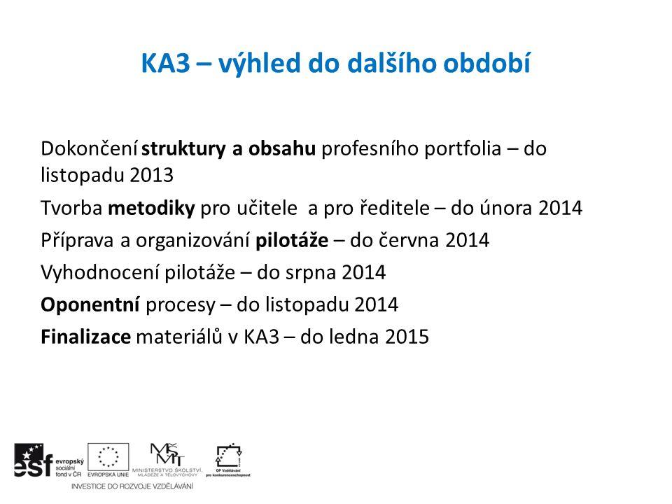 KA3 – výhled do dalšího období
