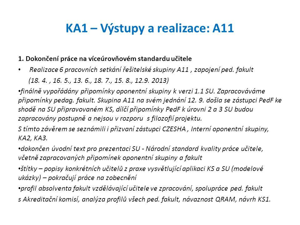 KA1 – Výstupy a realizace: A11
