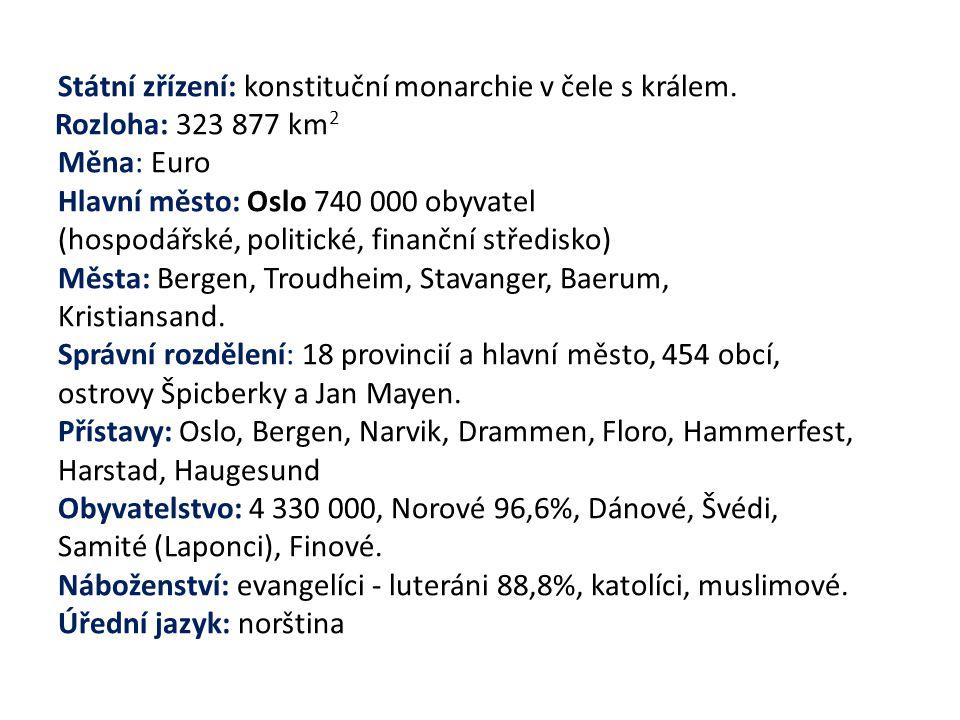 Státní zřízení: konstituční monarchie v čele s králem.