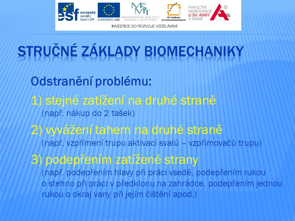 stručné základy biomechaniky